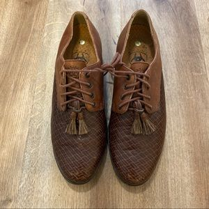 ARIAT Woven Leather Kiltie Tassel Ankle Boots Sz 7